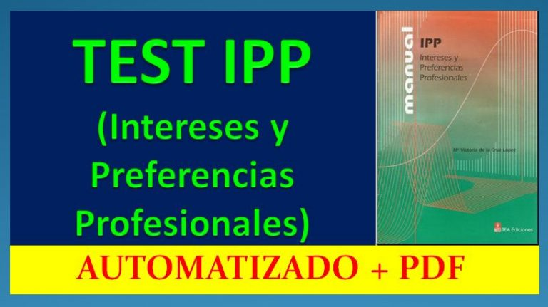 IPP Intereses y Preferencias Profesionales