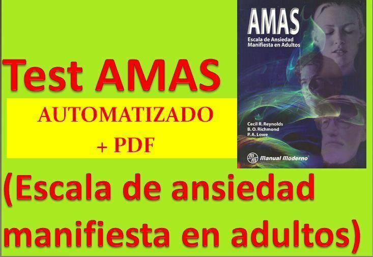 Test AMAS Escala de ansiedad manifiesta en adultos