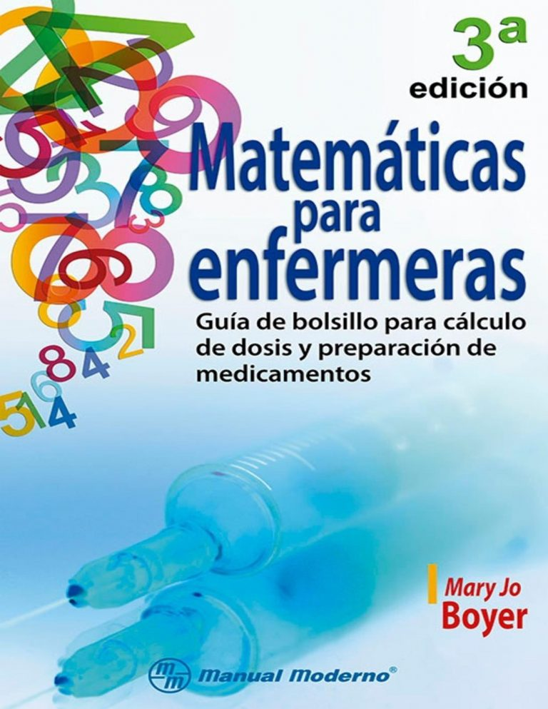 Matemáticas para enfermeras 3° edición