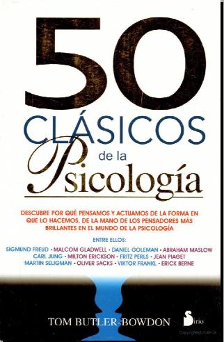 50 CLÁSICOS DE LA PSICOLOGÍA (Tom Butler) PDF