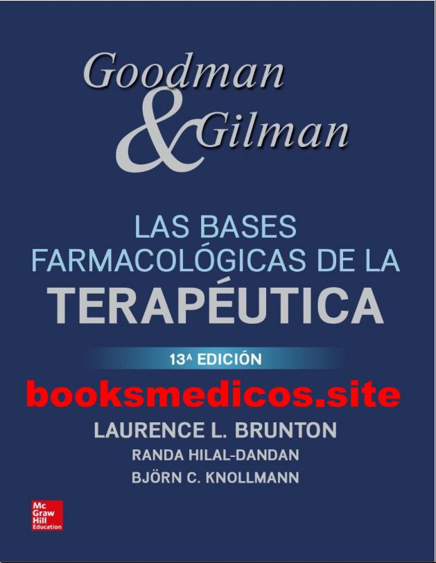 Bases Farmacologicas de la Terapeutica 13a Ed.