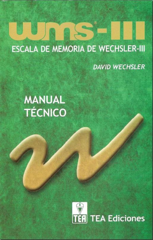 ESCALA DE MEMORIA de Wechsler (WMS-III)