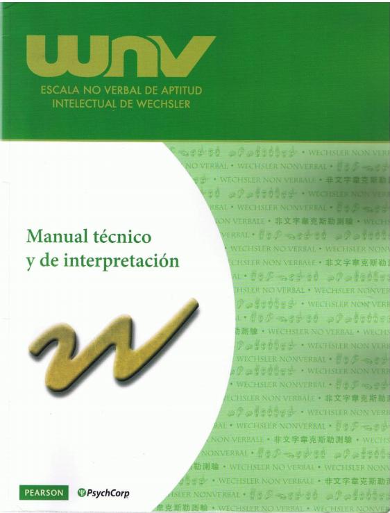 Test WNV (Escala no verbal de aptitud intelectual de Wechsler)